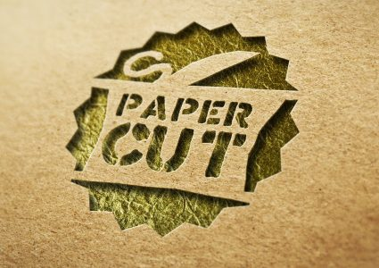 Мокап логотипа Paper cut