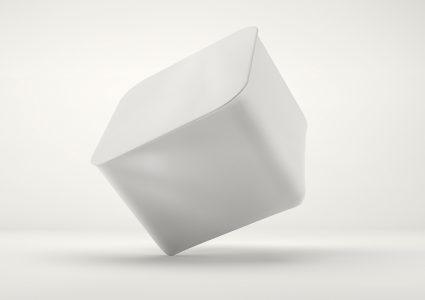 Мокап упаковки йогурта
