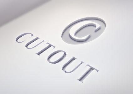 Мокап логотипа на белом фоне