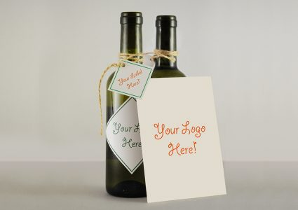 Мокап презентации вина