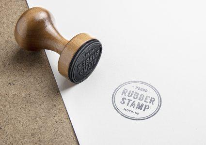 Мокап логотипа в виде печати