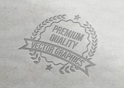 Мокап логотипа на бумаге