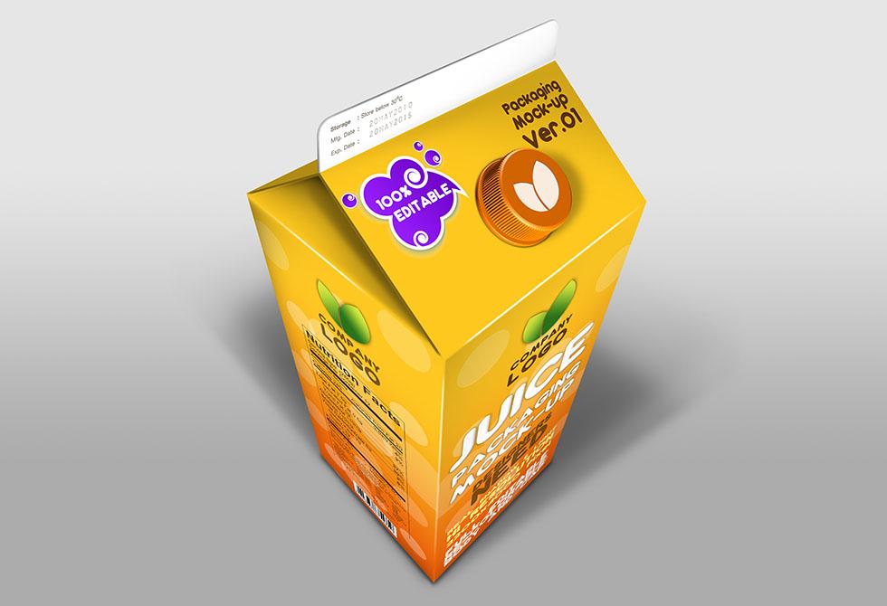 Мокап упаковки сока