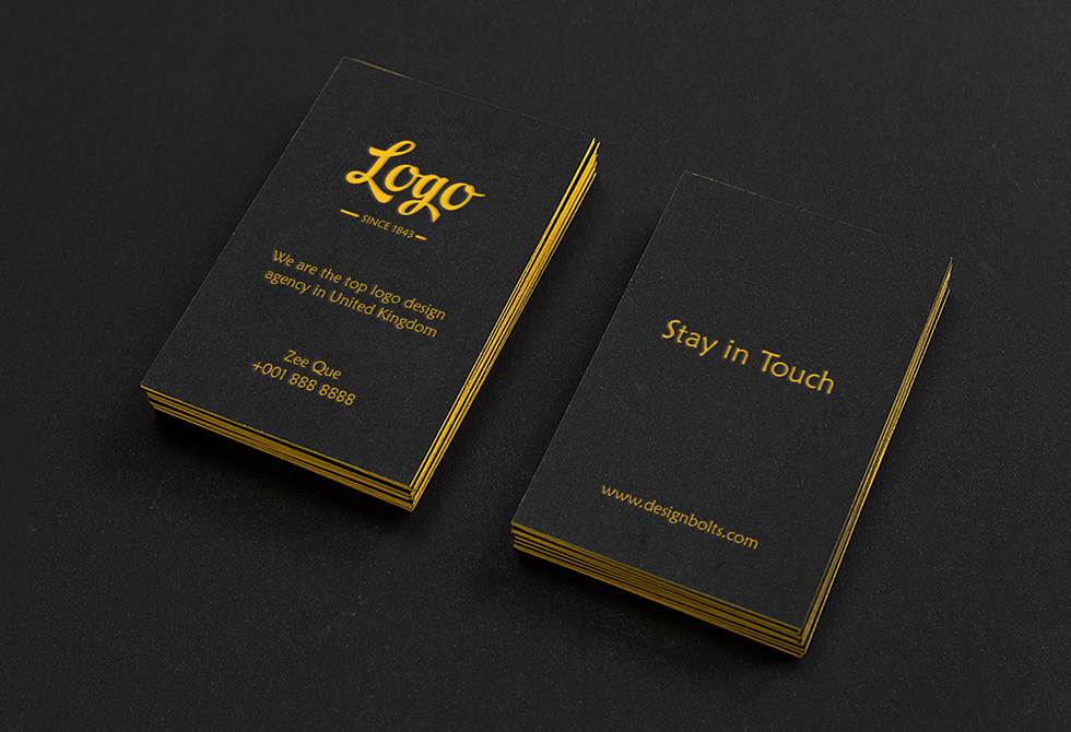 Black Textured Buisness Card Mockup PSD