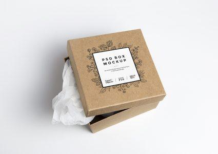 Мокап упаковки подарка