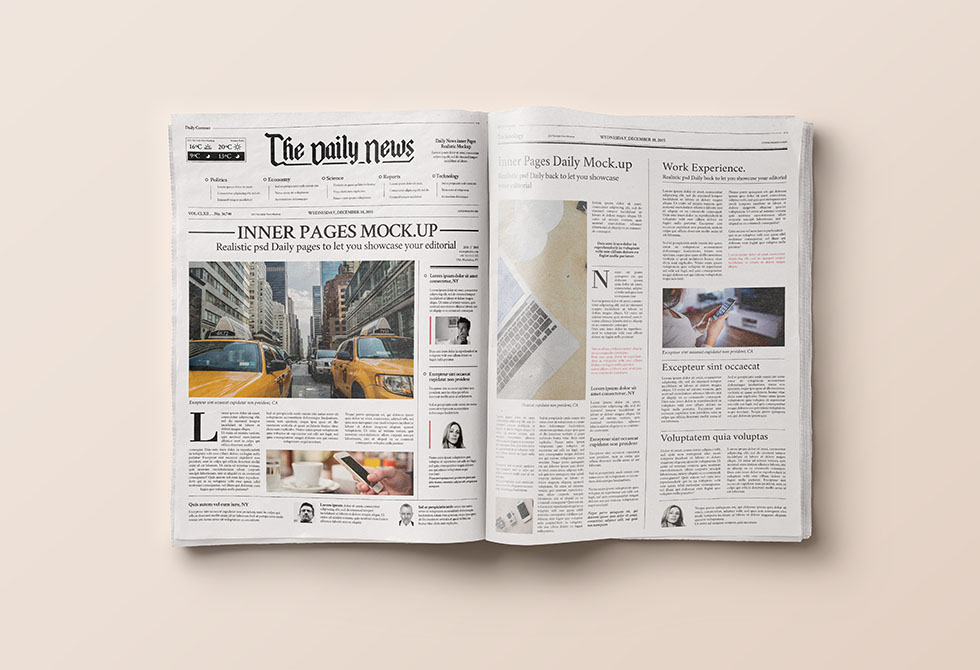 Daily News Inner Pages Mockup