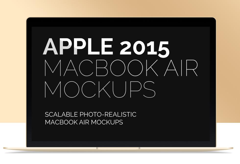 Мокап MacBook Air