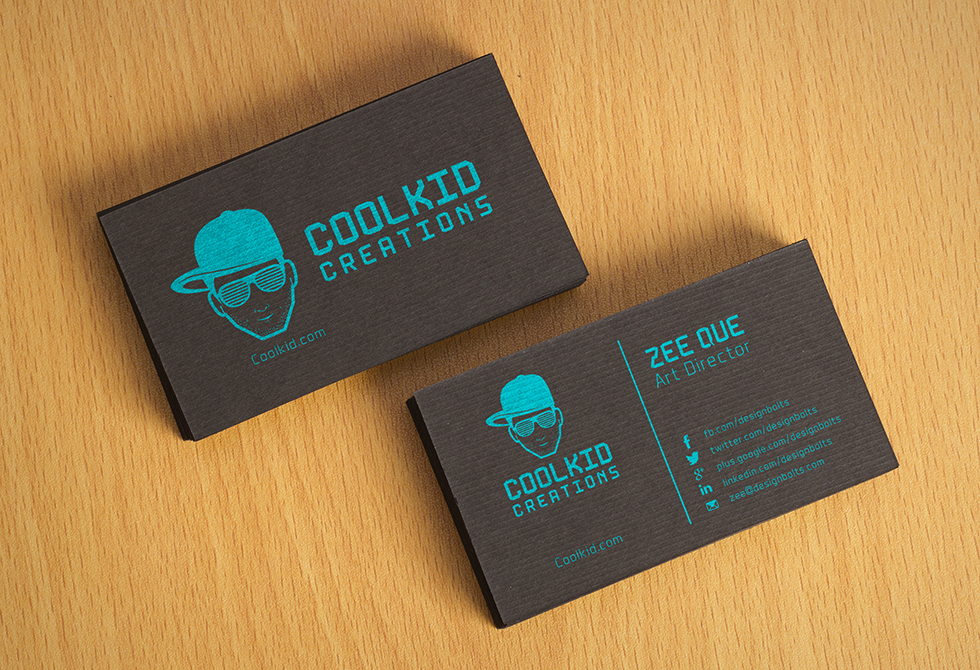 Free Black Textured Fancy Business Card Mockup