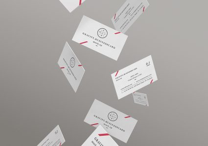 Мокап падающих визиток
