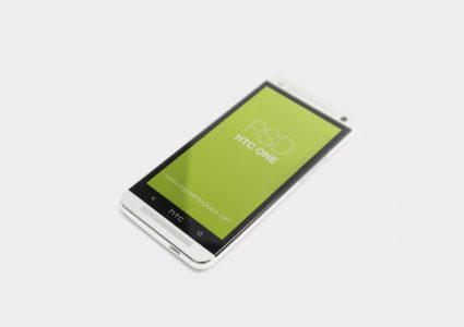 Мокап телефона HTC one