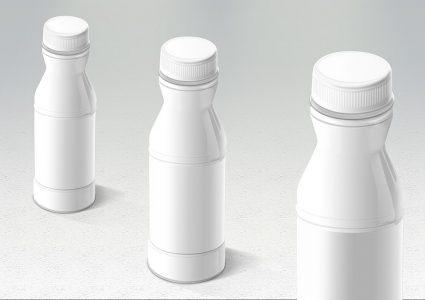 Мокап упаковки молочных изделий