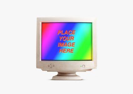 Мокапы старых компьютеров