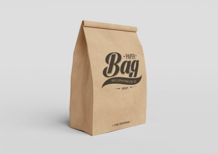 Мокап бумажных пакетов