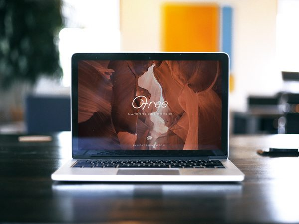 Right Brain Factory MacBook Mockup