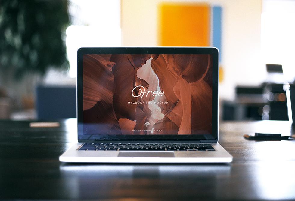 Right Brain Factory MacBook Mockup