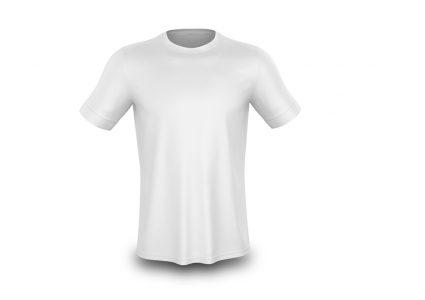 Мокап мужской футболки: вид спереди