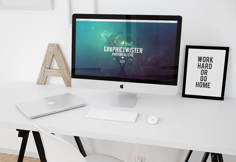 Мокап компьютера iMac