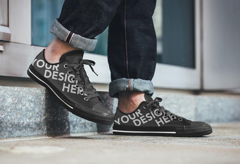 black men shoe Mockup