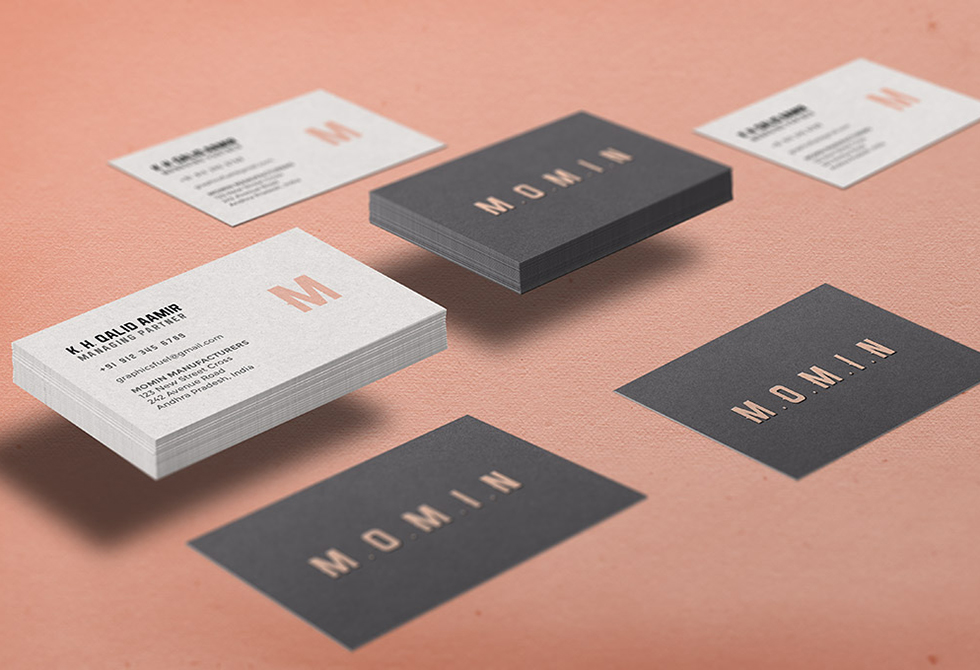 Мокапы визитных карточек