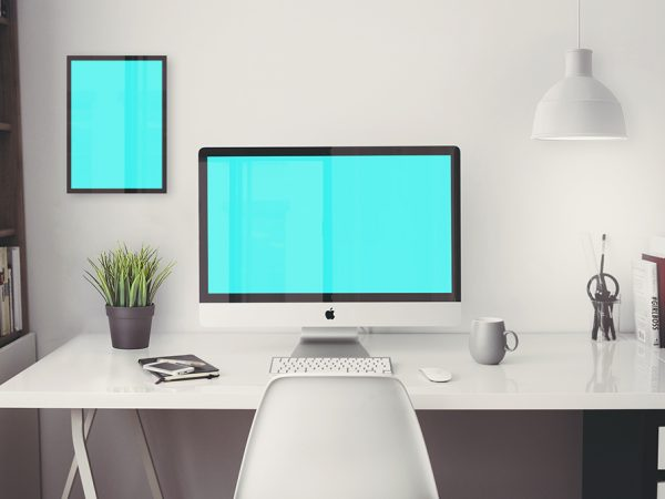 iMac-Office-Mockup-with-items