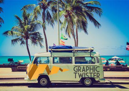 Мокап автобуса в Майями