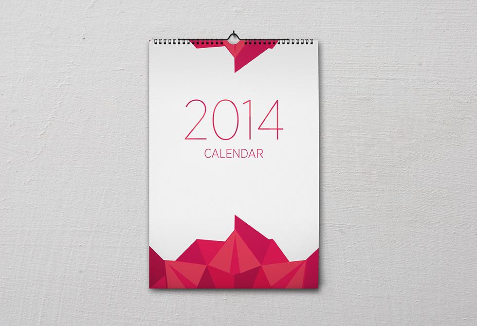 Мокап календаря A3