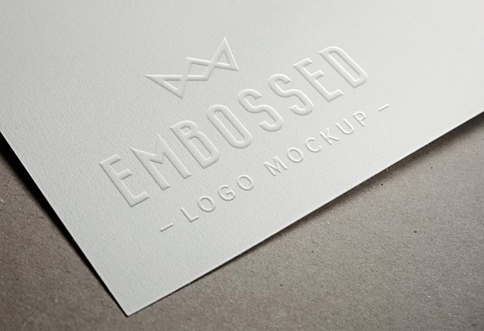 Embossed Paper Logo MockUp
