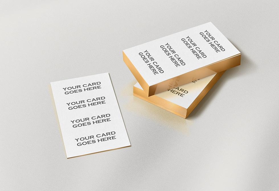 Горизонтальные или вертикальные визитки?
