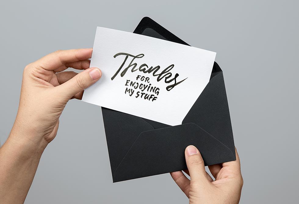 Greeting Card PSD MockUp