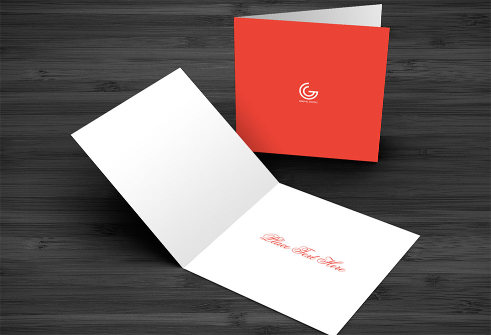 Greetings Card Mockup