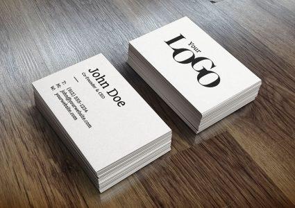 Мокап визитки