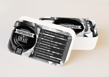 Мокап визиток со скругленными углами