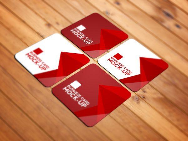Мокап визитки со скругленными углами