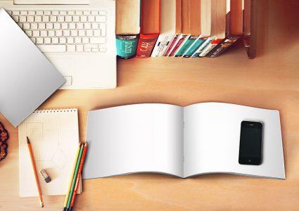 Мокап брошюры размера А5