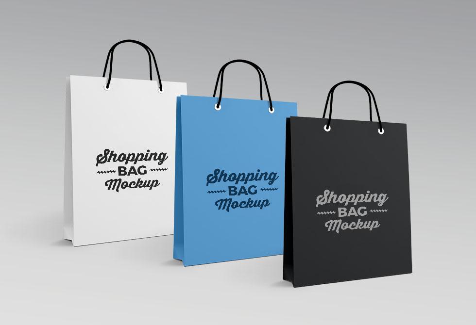 Мокап высококачественный мешок для покупок