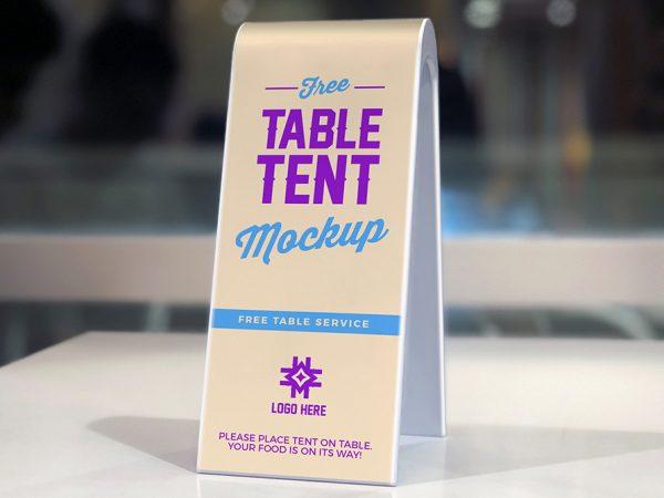 Мокап табличная палатка