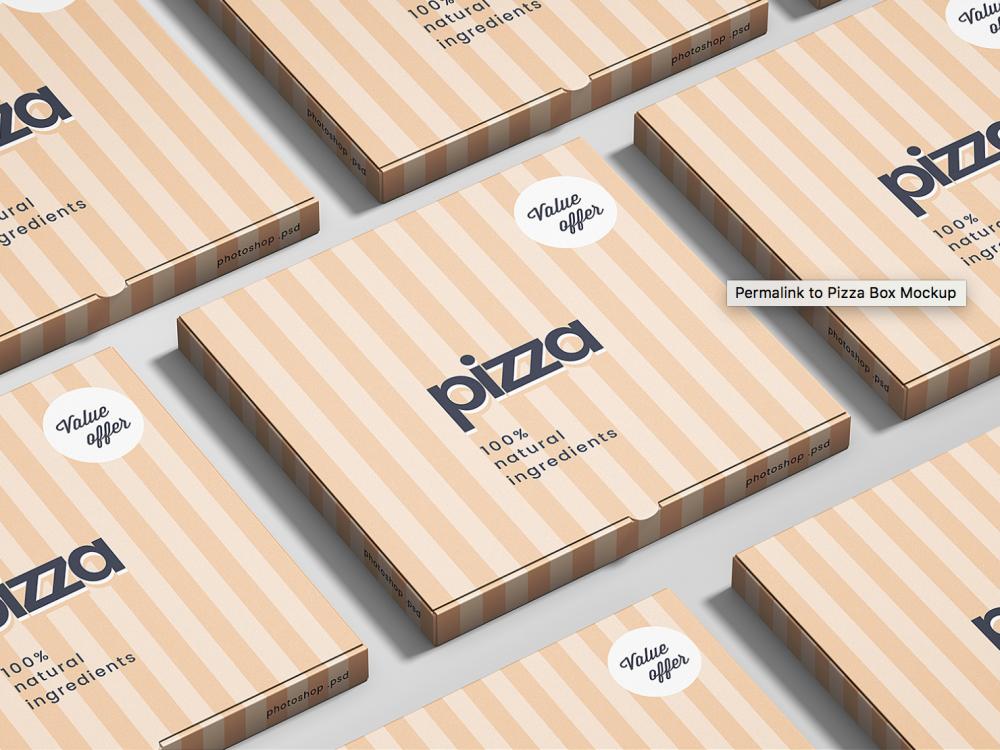 Мокап коробки пиццы