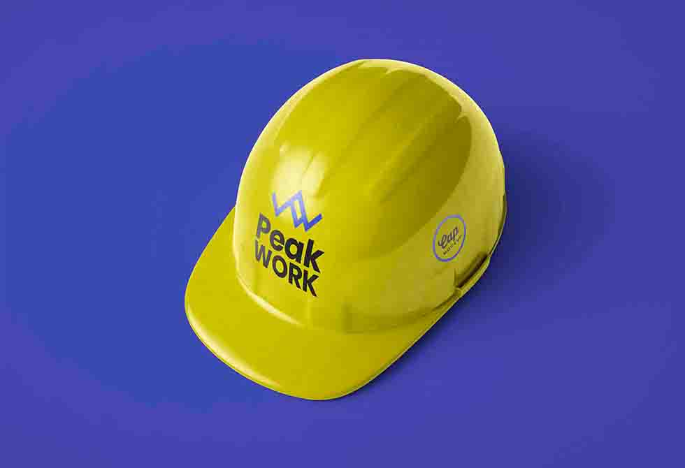 Мокап строительного шлема