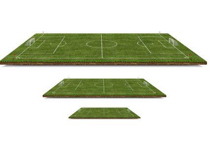 Мокап футбольного поля в 3D