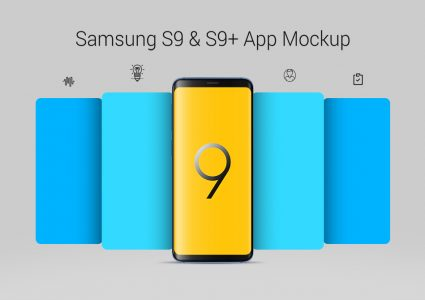 Мокап Samsung Galaxy S9 и S9