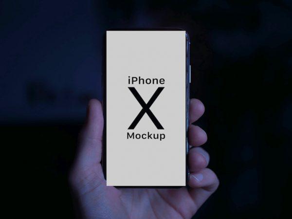 Мокап телефона iPhone X