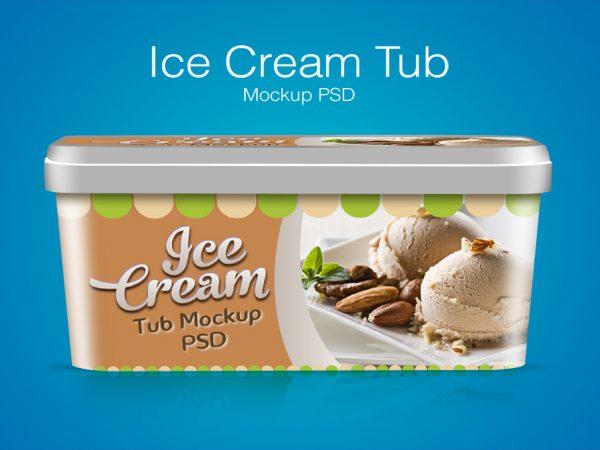 Мокап коробки мороженого