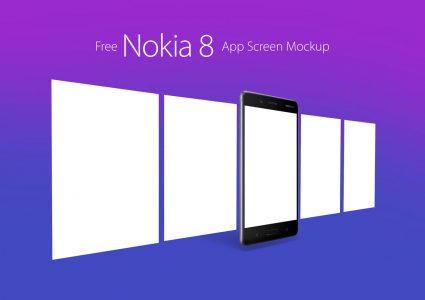 Мокап смартфонов приложений Nokia 8 Android