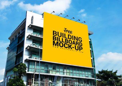 Мокап билборда на стене