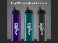 Мокап спортивной бутылки для воды