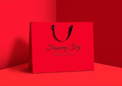 Мокап подарочной сумки