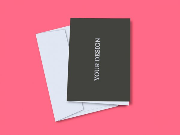 Мокап поздравительная открытка