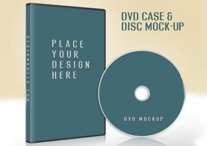 Мокап CD / DVD чехол и обложка диска