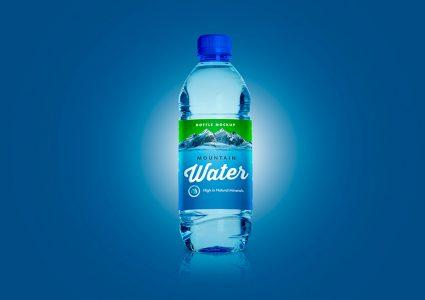 Мокап бутылка воды