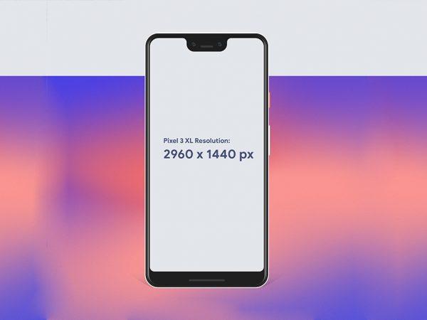 Мокап Pixel 3 XL